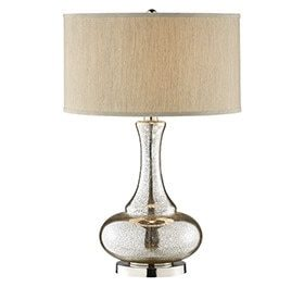 traditional mercury glass lamp living room ideas