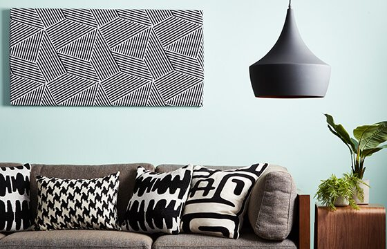 Black and white patterned art work how to mix patterns