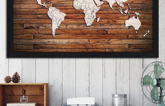 wooden map art preppy teen bedroom ideas for him