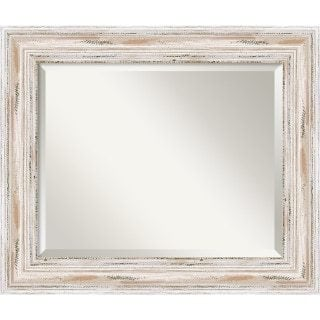 white washed wood wall mirror french country furniture & decor ideas