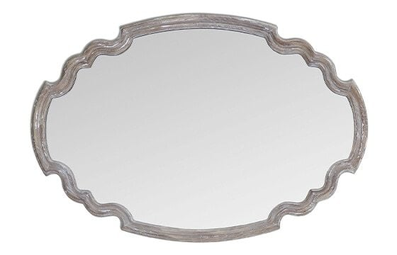 decorative mirror in distressed wood frame french country decor ideas