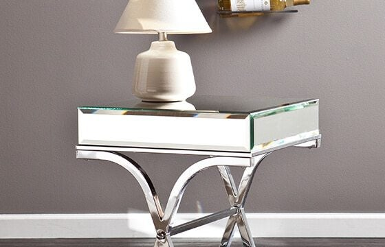 Mirrored end table elegant teen bedroom ideas for her