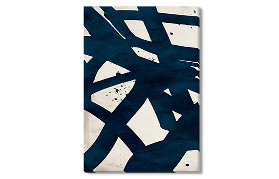 Black and white abstract art wall decorating ideas