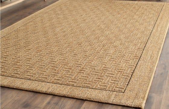 Sisal rug for mudroom entryway