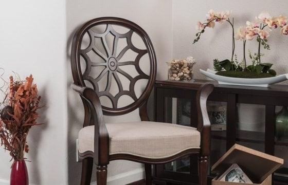 Chair in open entryway