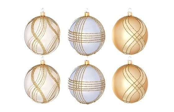 gold silver holiday ornaments traditional christmas decor ideas