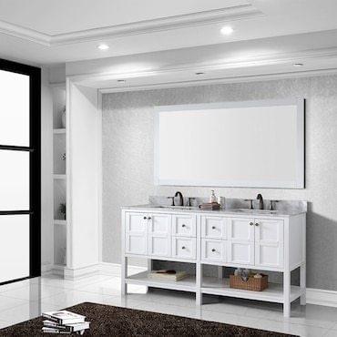 White bathroom vanity