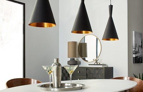 Matte black pendant lighting modern interior design ideas