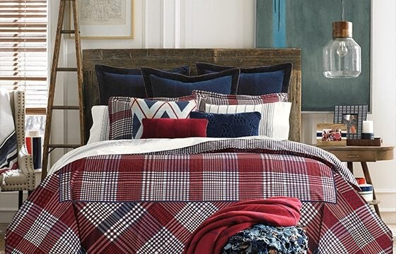 Plaid Bedding teen bedroom ideas