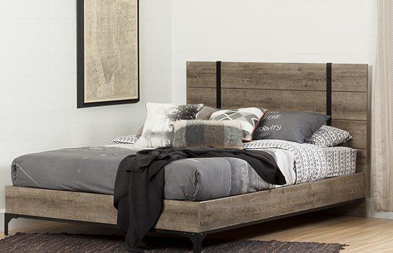 Wooden platform bed guest bedroom ideas