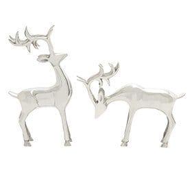 silver reindeer figurine mid-century modern christmas decor ideas
