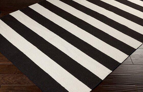 black/white striped rug modern interior design ideas