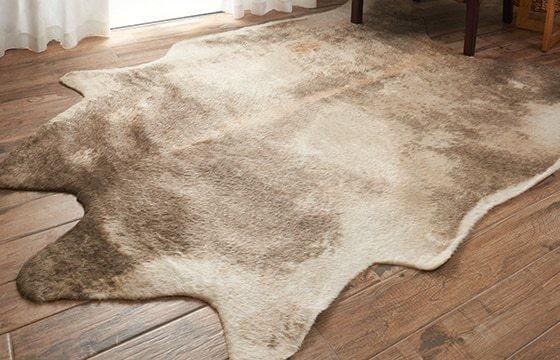 faux hide rug scandinavian decor ideas