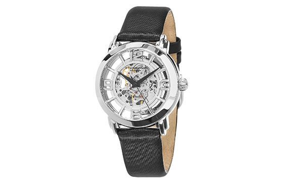 skeleton watch with black leather strap guide to women's watches