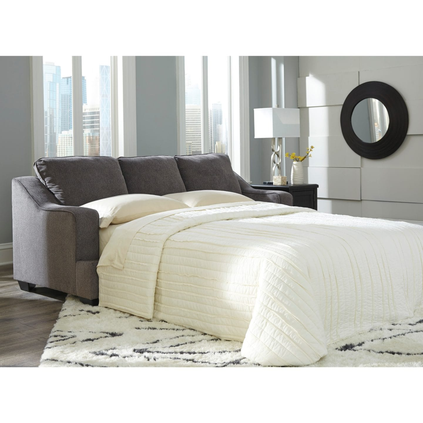 A Grey Sleeper Sofa