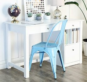 blue teen desk chair