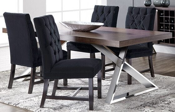 wood and metal modern dining table modern interior decor ideas