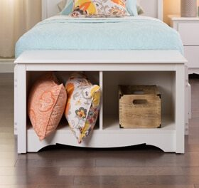 white storage bench teen bedroom ideas