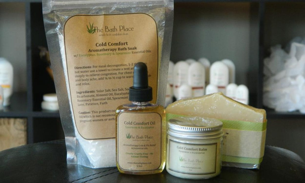 A collection of natural health and beauty products