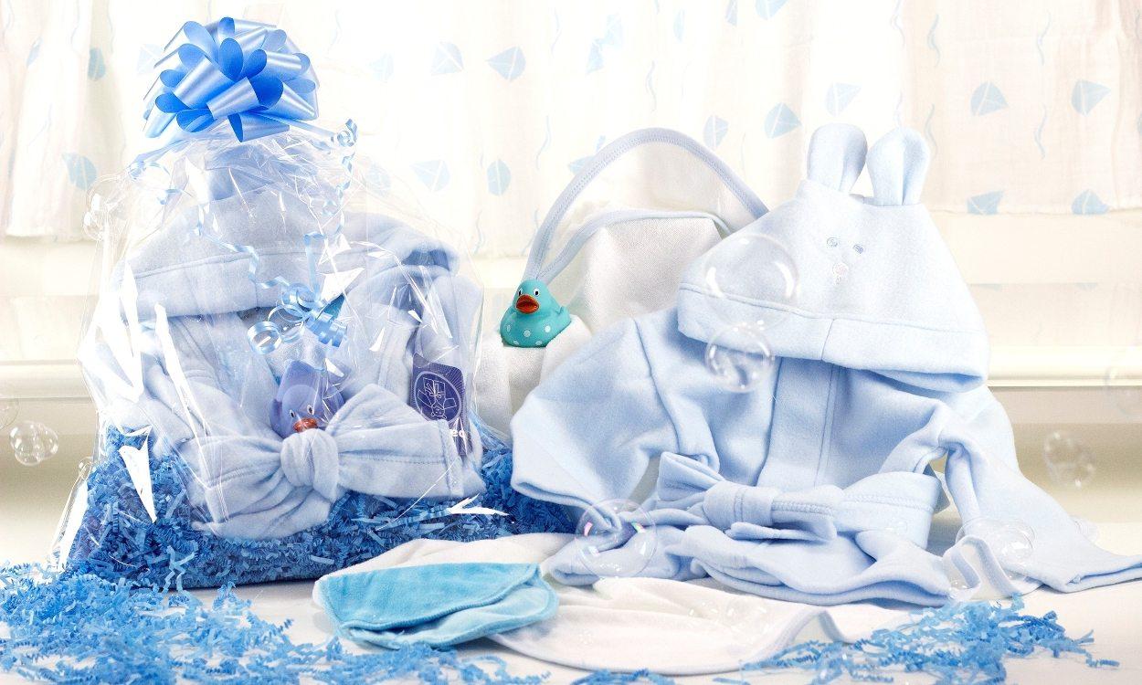 A uniique baby boy gift basket