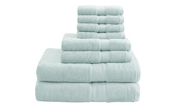 Light blue bathroom towels guest bedroom ideas