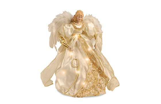 golden angel tree topper traditional christmas tree decor ideas