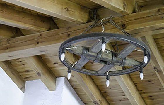 Rustic wood beams