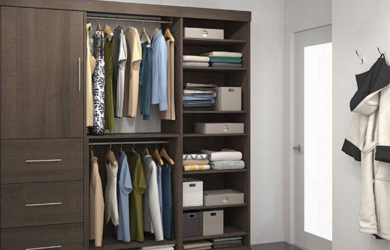 Closet system home storage solutions