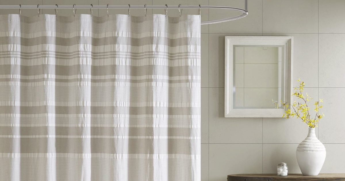 cff7f392d20 5 Tips on Using Cloth Shower Curtains - Overstock.com