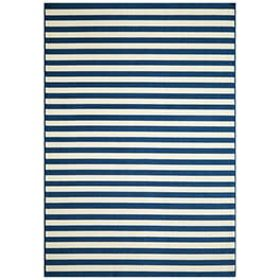 A stripe pattern area rug - Coastal Furniture & Decor Ideas