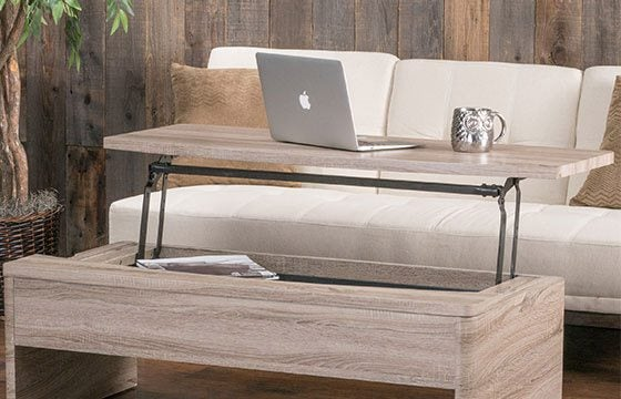 Functional coffee table home storage solutions