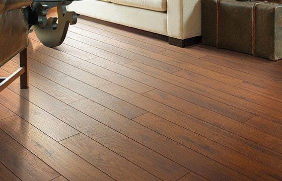 Hardwood flooring in a coastal living room