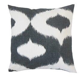 Ikat print pillow mix and match patterns