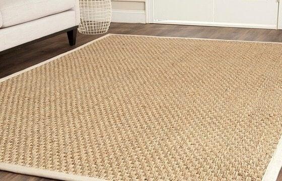 Jute rug in a coastal dining room - Coastal Furniture & Decor Ideas