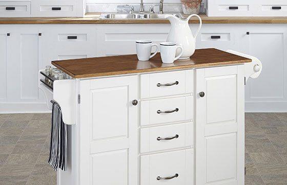 Kitchen cart home storage solutions