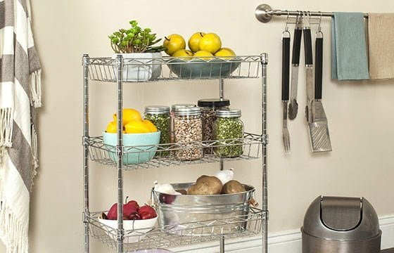 Pantry rack home storage solutions