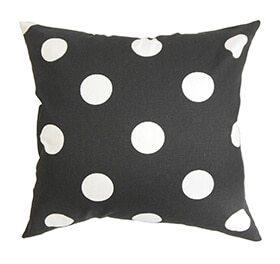 Polka dot pillow mix and match patterns