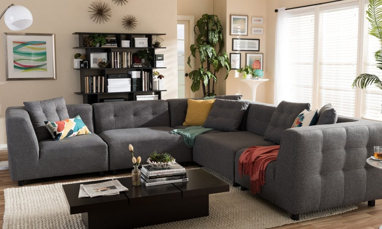 sectional sofa in a living room