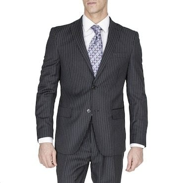man in a suit with pin stripes