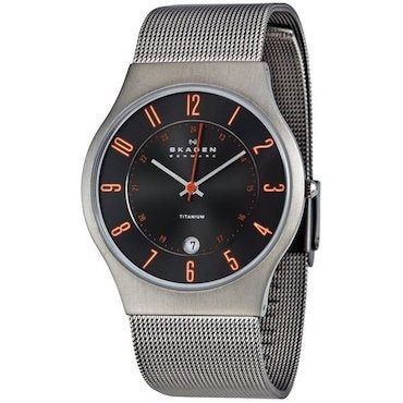 Silver water resistant skagen watch