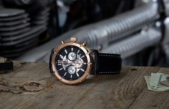 men's black leather rose gold chronograph watch guide to men's watches
