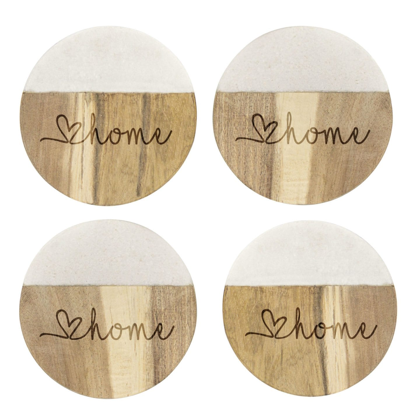 woodgrain coasters on white background stocking stuffer ideas for adults