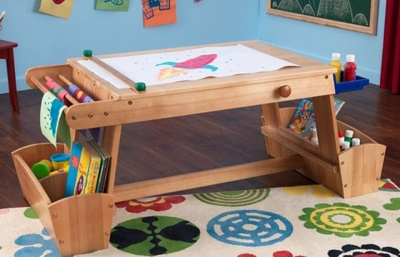 Craft table for playroom ideas