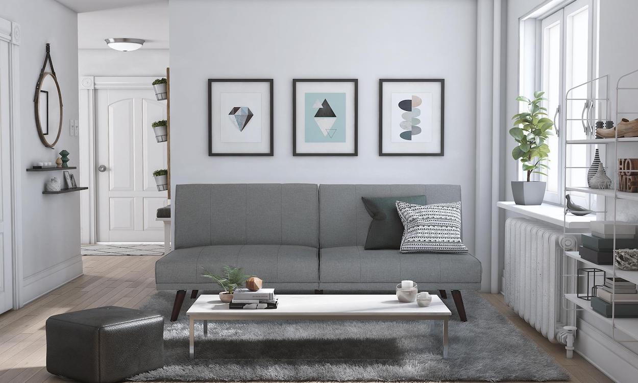 Gray Futon Bed