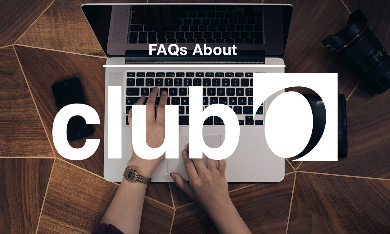 A person working on their computer, starting to join Club O