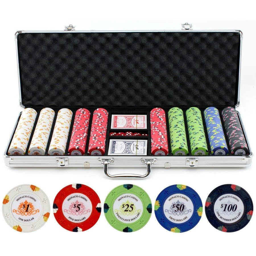 A poker chip set, perfect for a best man gift