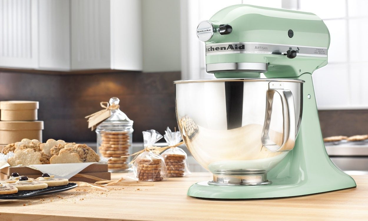 Light Green Kitchenaid Mixer