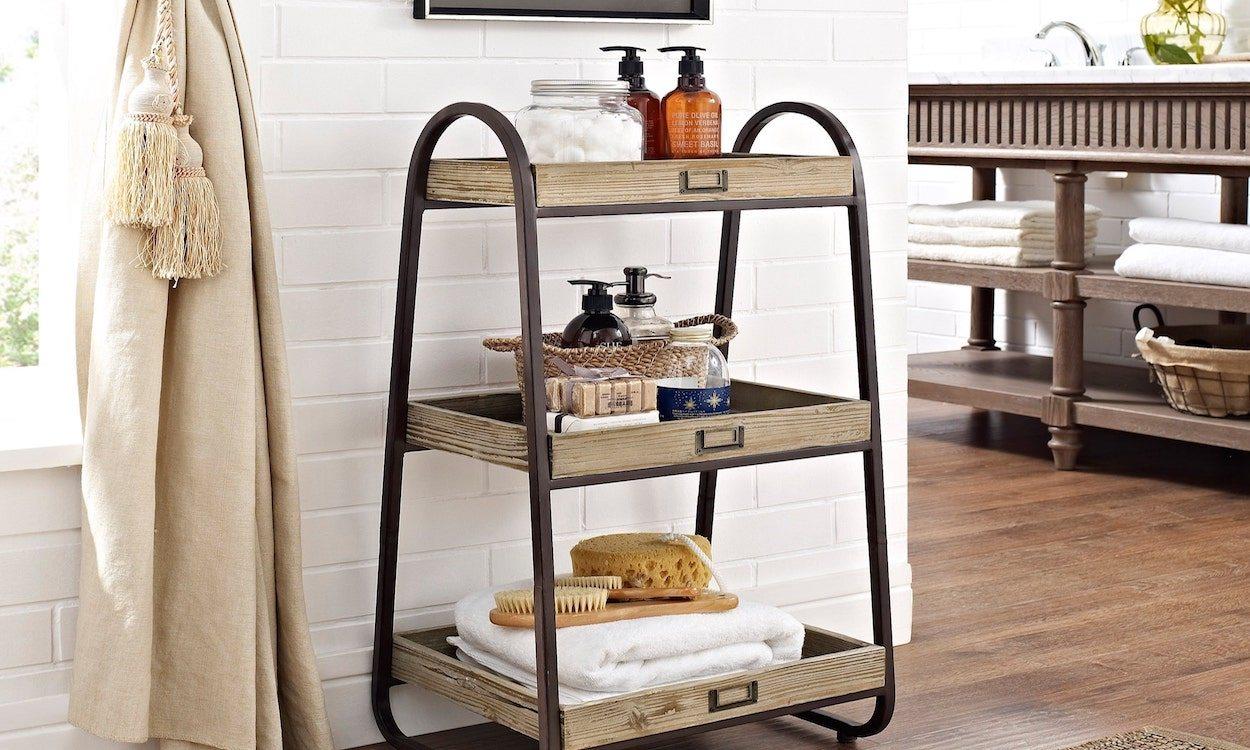 three tiered bath stand