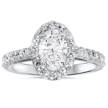 Oval cut diamond halo best engagement rings for Christmas