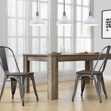 metal dining chairs